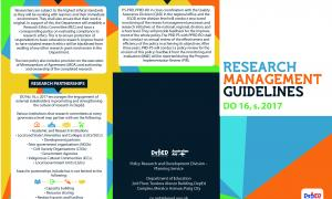 Research Management Guidelines