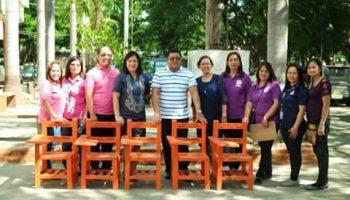 Through Mayor Resuello's initiative, SDO SCC receives 100 eco-friendly chairs from Sen. Villar